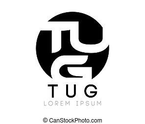 TUG Letter Logo - TUG Logo Concept Design, AI 10 supported.