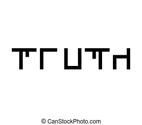 Truth Logo Design Concept, AI 10 supported.