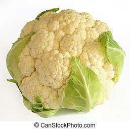 Cauliflower on white - A fresh cauliflower, isolated on a...