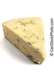 Stilton cheese - A wedge of British Stilton cheese