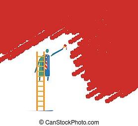 Wall Paint Man - Wall paint man concept design.