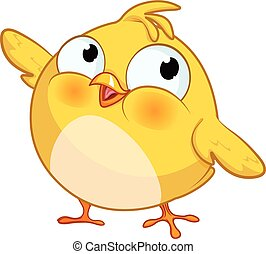 Cute Yellow Little Chick - Illustration of very cute chick