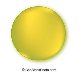 Round Empty Button Design.