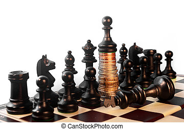 power of the money chess concept - power of the money...