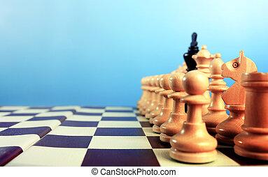 black inside white - Black king inside on white figures...
