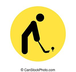 Golf Player Icon. AI 8 supported.