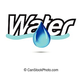 Water Logo with Drop