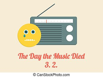 Poster for The Day the Music Died - 3rd Februardy every year...