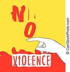 No Violence Protest Poster Design