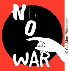 No War Poster Design, AI 10 supported.