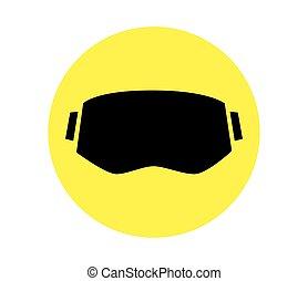3D Eyewear - Virtual Reality and 3D Eyewear Icon Design