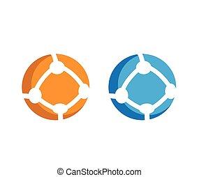 Round Communication Icon Set