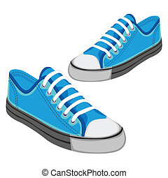 illustration of isolated shoes - fully editable vector...