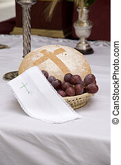 eucharist - a table prepared to give a Mass