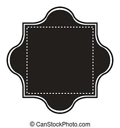 silhouette border heraldic decorative frame with square dotted