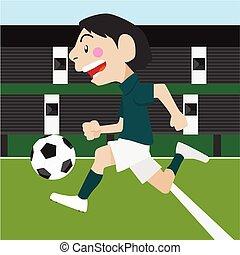 Football soccer sport vector cartoon illustration set