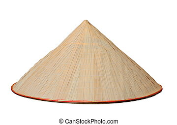 chinese conical isolated hat - chinese conical trellis...