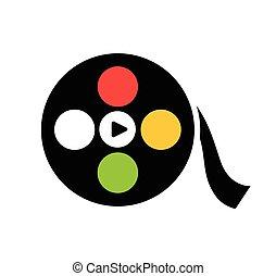 Film Reel Icon Design - Film Reel Design Concept.
