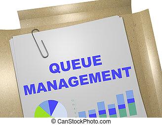 Queue Management - business concept - 3D illustration of...