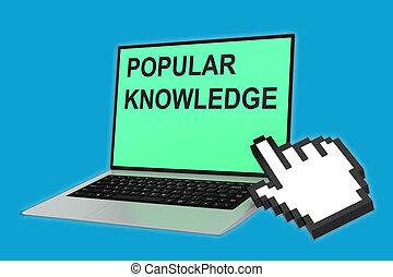 popular, conceito, conhecimento