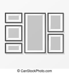 Blank Picture or Foto Frame for Interior. Vector - Realistic...