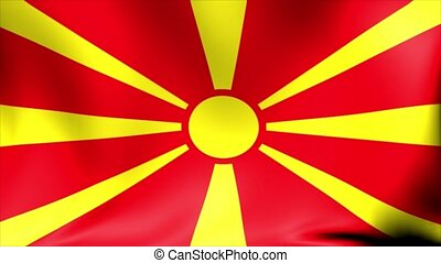 Macedonia Flag. Background Seamless Looping Animation.