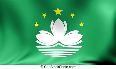 Macau Flag. Background Seamless Looping Animation.