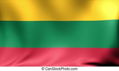 Lithuania Flag. Background Seamless Looping Animation.
