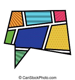 colorful rectangle callout in pop art