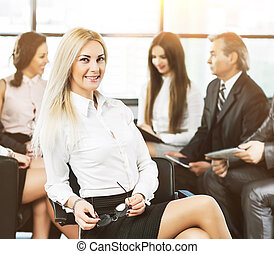 Portrait of a young successful business woman - director...