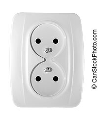 Electric outlet with clipping path