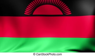 Malawi Flag. Background Seamless Looping Animation.