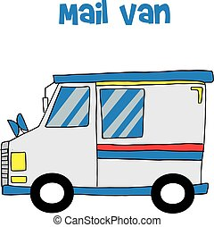Transportation of mail van collection