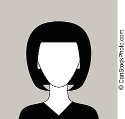 Vector woman anonymous