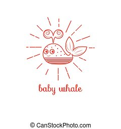 Logo baby whale