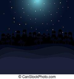 color background in desert night of bethlehem