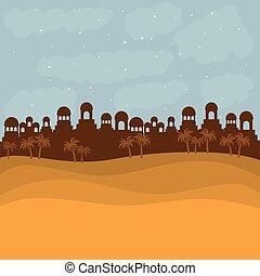 color background in sunset desert of bethlehem