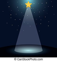 color background with dark sky and bethlehem star