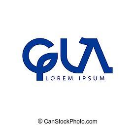G and LA Logo Design - G and LA Logo Concept Design