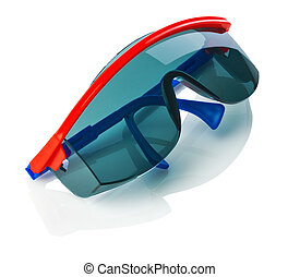 dark protective glases isolated