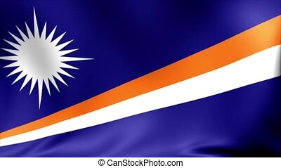 Marshall Islands Flag. Background Seamless Looping...