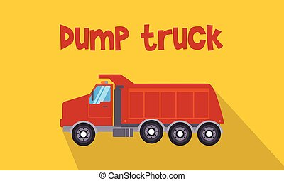 Illustration of red dump truck