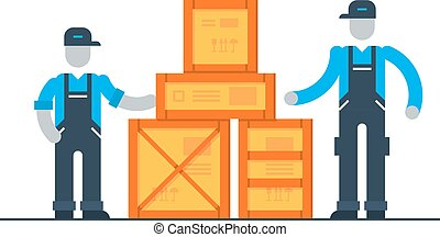 Packaging and shipping logistics transportation