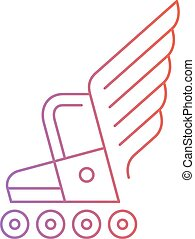 Skating activities, roller boot with wings logo - Roller...