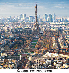 above view of Eiffel Tower and champ de mars - travel to...