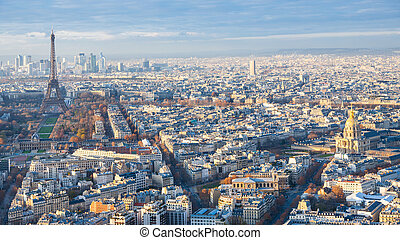 panorama of Paris with Tower and les invalides