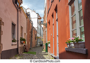 cobbled streets of Brussels - View of cobbled streets ....