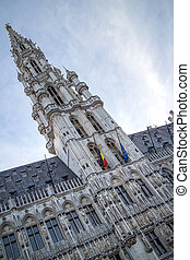 Tower of Maison du Roi on the Grand Place, Brussels