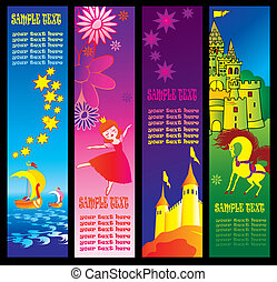 Fairy-tale banners.