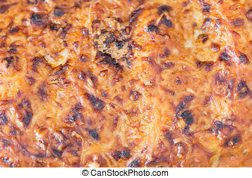 Homemade meat cannelloni - Detail of homemade meat...